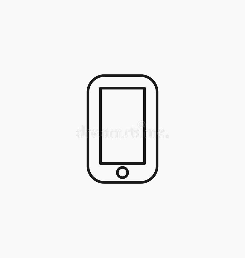 Ícone de Smartphone Ilustração do vetor do símbolo do telefone ilustração royalty free