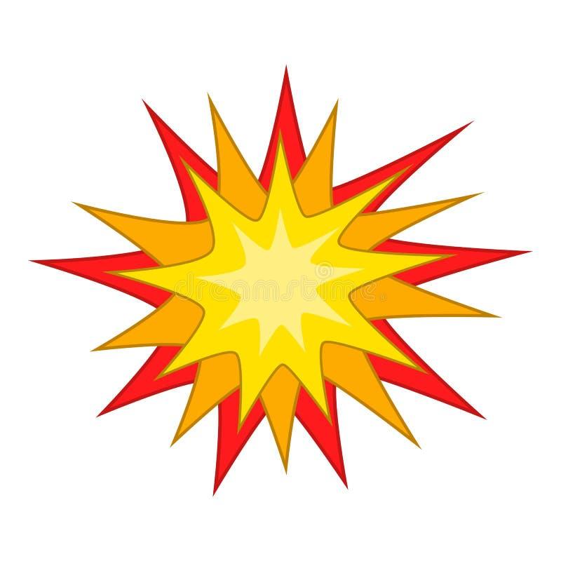 Ícone de Starburst, estilo dos desenhos animados ilustração royalty free