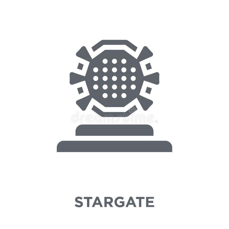 Ícone de Stargate da coleção da astronomia ilustração royalty free