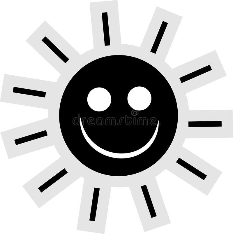 Ícone de Sun ilustração stock