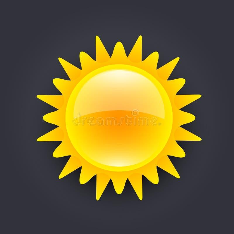 Ícone de Sun ilustração royalty free