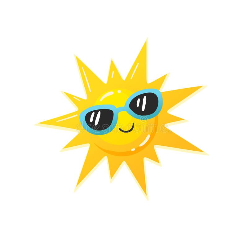 Ícone de Sun do vetor ilustração stock