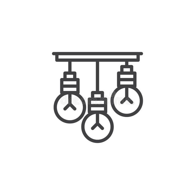 Ícone de suspensão do esboço das ampolas ilustração royalty free