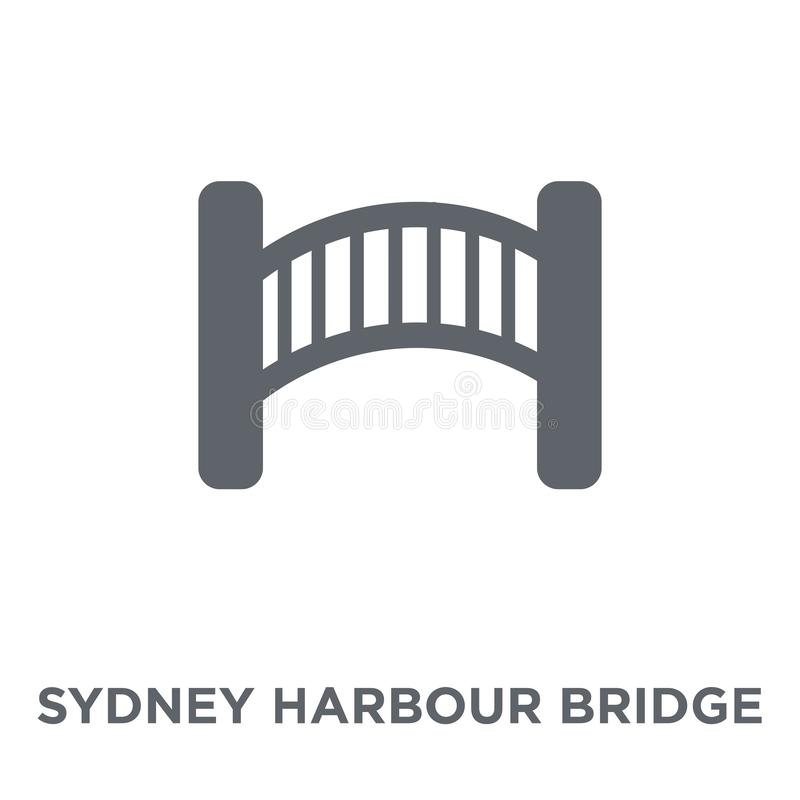 Ícone de Sydney Harbour Bridge da coleção de Austrália ilustração do vetor