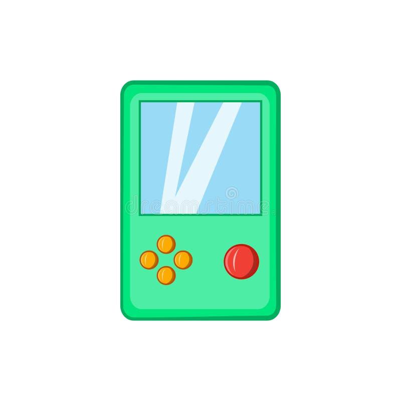 Ícone de Tetris, estilo dos desenhos animados ilustração royalty free