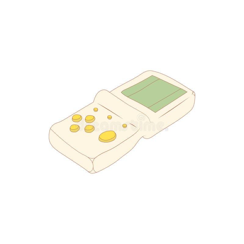Ícone de Tetris, estilo dos desenhos animados ilustração stock