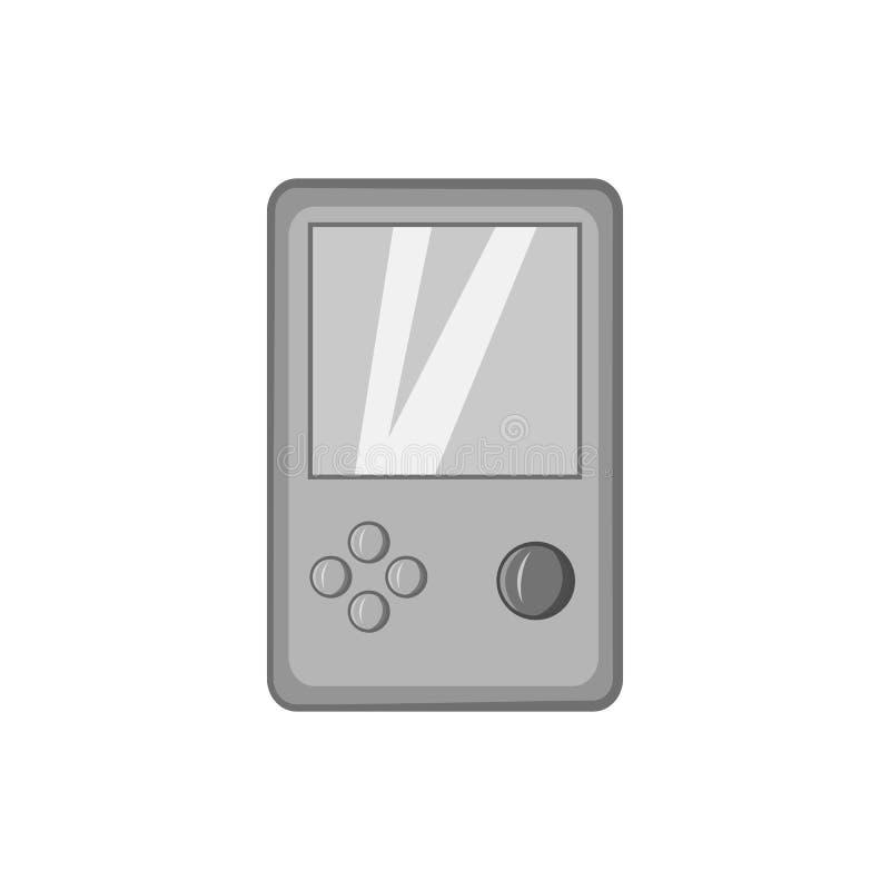 Ícone de Tetris, estilo monocromático preto ilustração do vetor