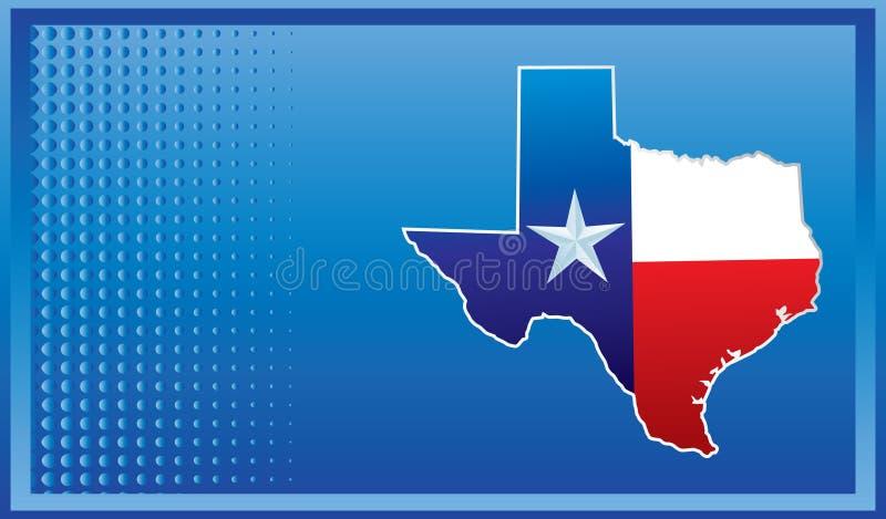 Ícone de Texas na bandeira azul ilustração stock