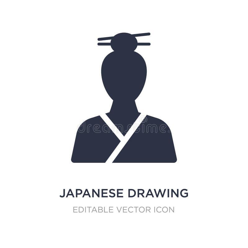 ícone de tiragem japonês no fundo branco Ilustração simples do elemento do conceito da arte ilustração do vetor
