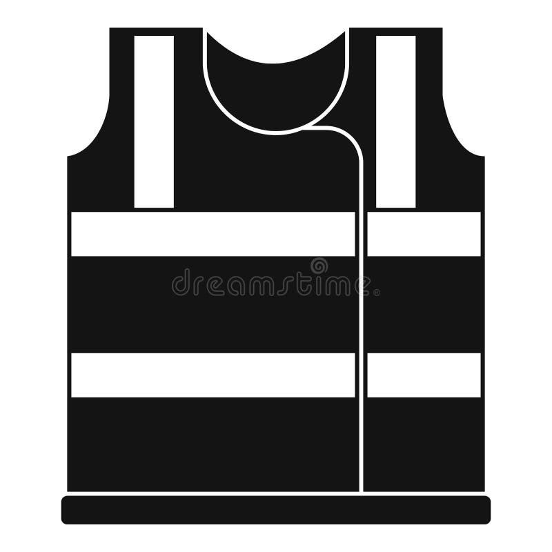 Ícone de trabalho da veste, estilo simples ilustração do vetor