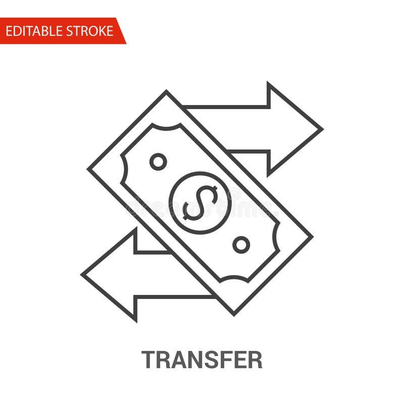 Ícone de transferência Linha fina ilustração do vetor ilustração royalty free