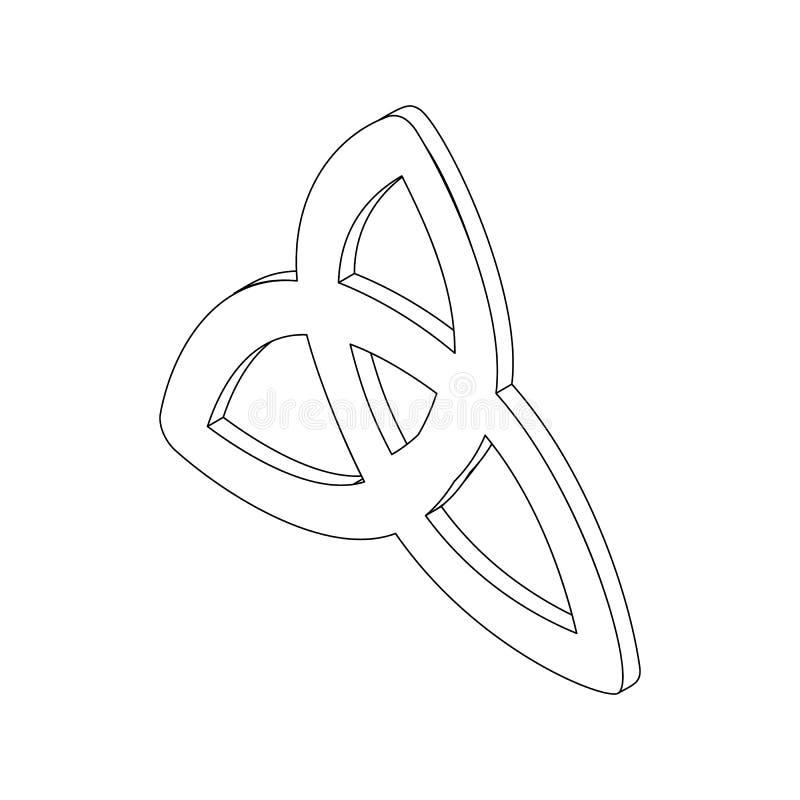 Ícone de Triquetra, 3d isométrico ilustração royalty free