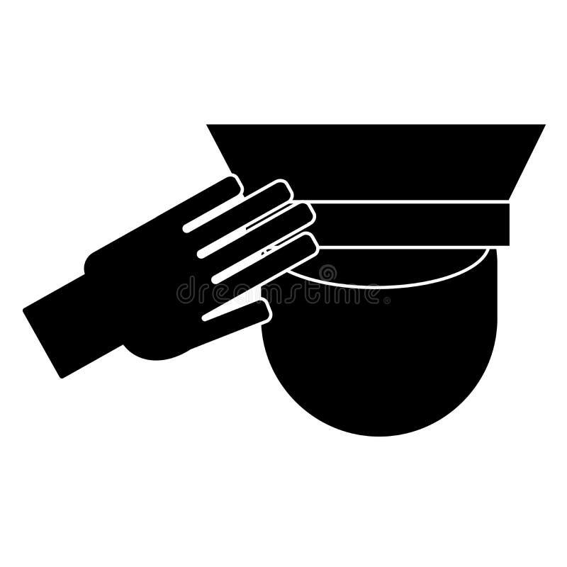 Ícone de um recruta de saudação ilustração royalty free
