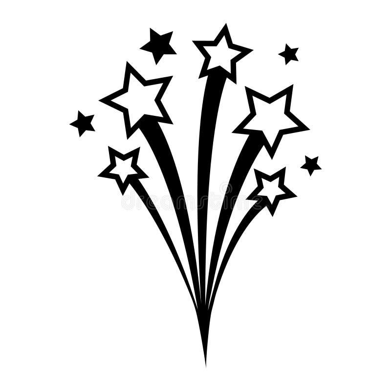 ícone de vetor do Fireworks símbolo de ilustração de aniversário assinatura ou logotipo de celebração ilustração do vetor