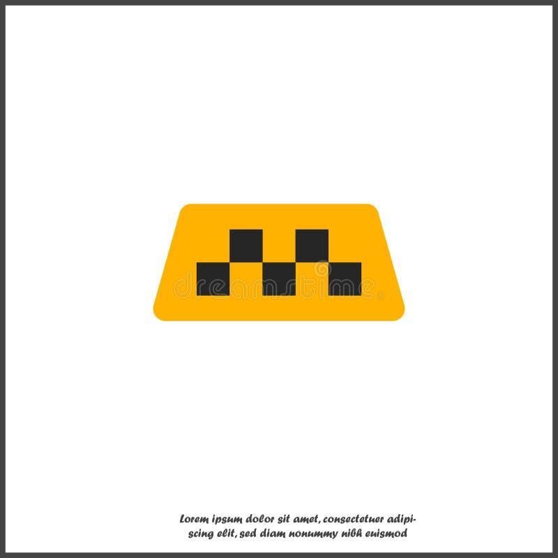 Ícone de vetor dos verificadores de táxis em fundo branco isolado Camadas agrupadas para ilustração de edição fácil Para seu desi ilustração royalty free