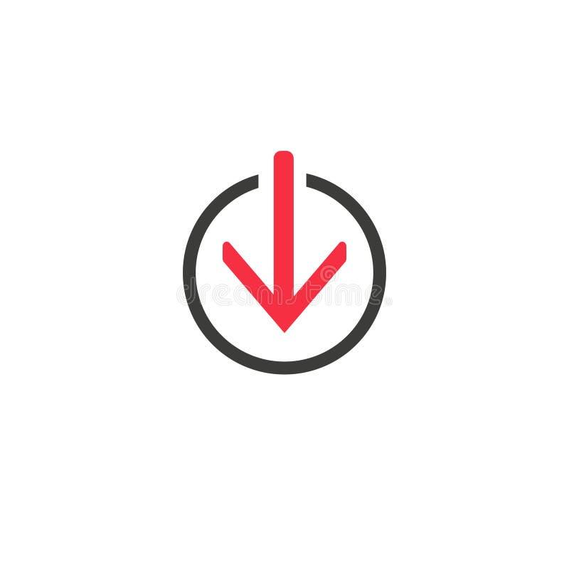 Ícone de vetor de linha de download símbolo Ilustração de vetor simples e moderna para site ou aplicativo móvel ilustração royalty free
