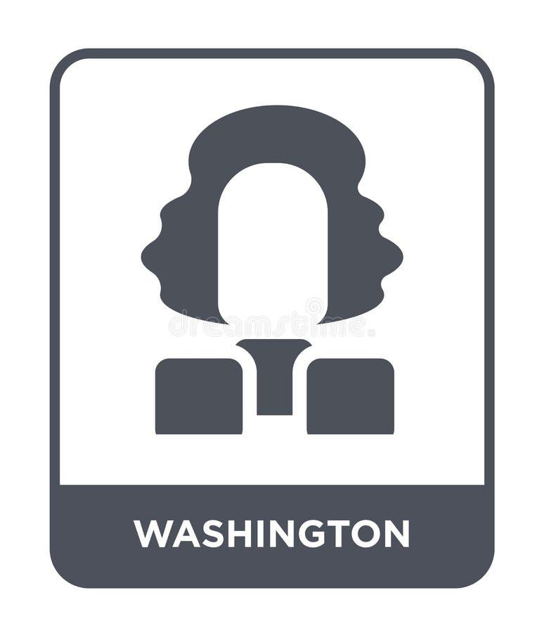 ícone de Washington no estilo na moda do projeto ícone de Washington isolado no fundo branco ícone do vetor de Washington simples ilustração royalty free