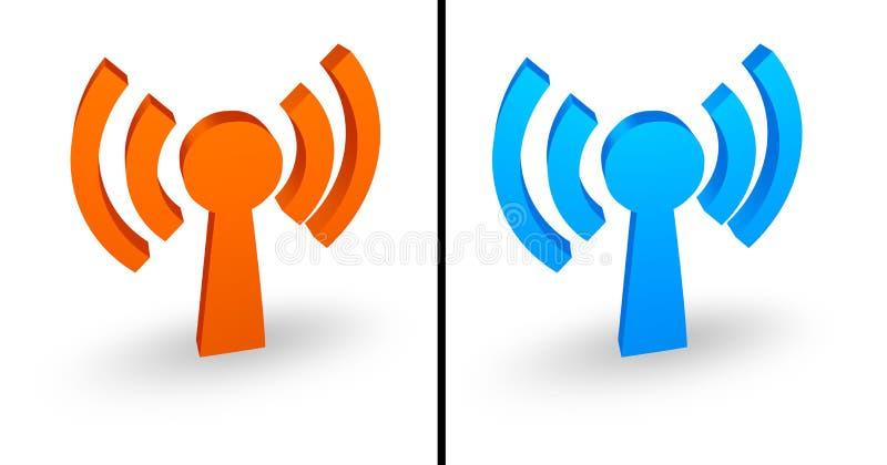 Ícone de Wi-Fi ilustração do vetor