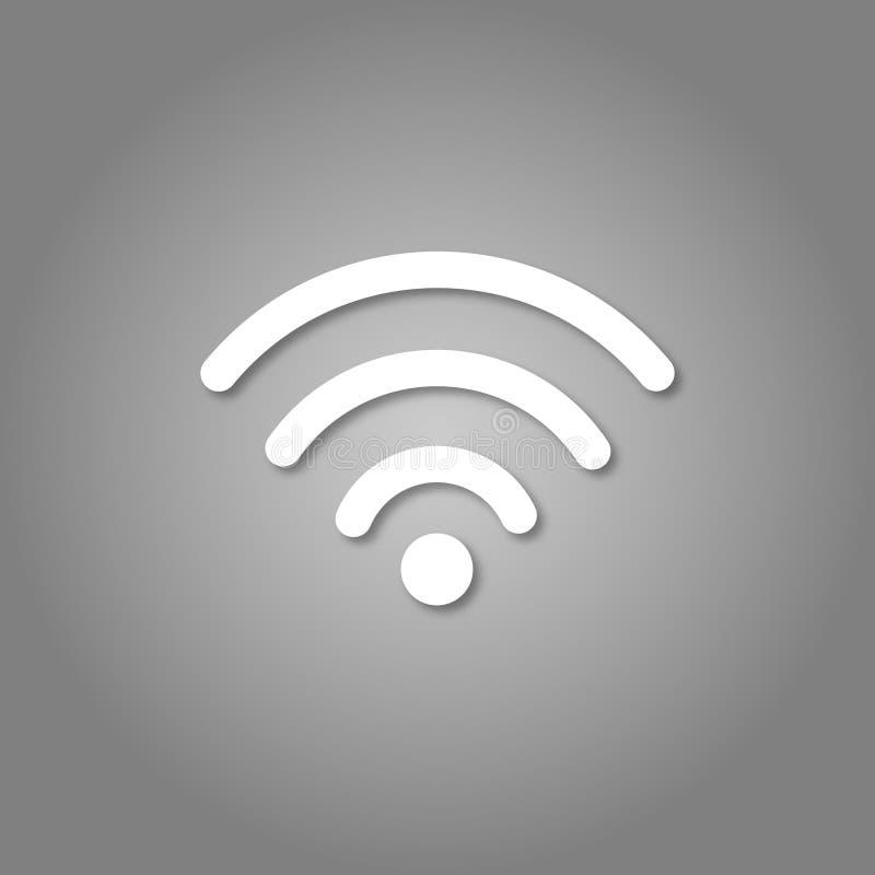 Ícone de Wi-Fi ícone de 3d Wifi Estilo da arte do corte do papel ilustração royalty free