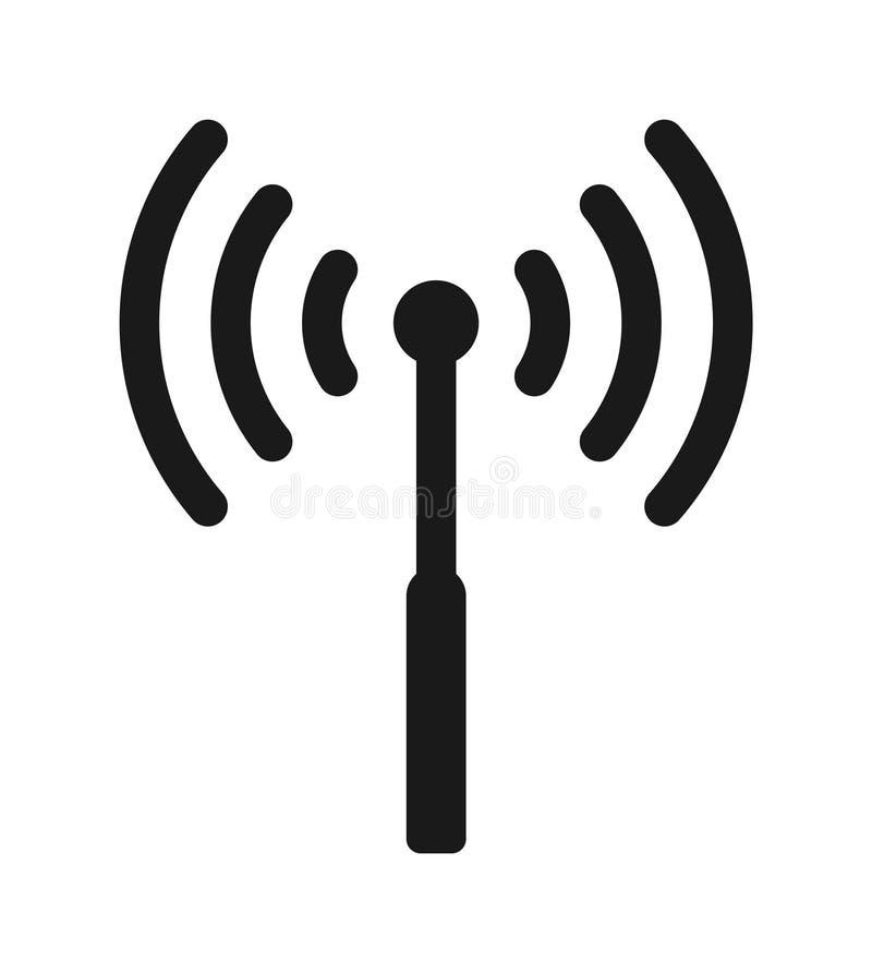 Ícone de Wifi da antena ilustração stock