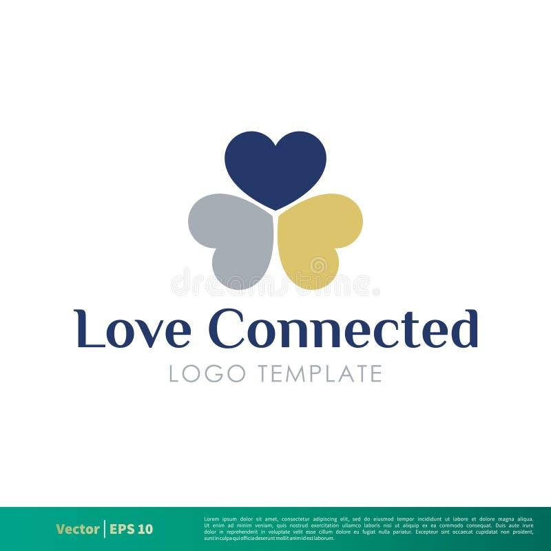 Ícone decorativo Logo Template Illustration Design do vetor da flor do amor Vetor EPS 10 ilustração royalty free
