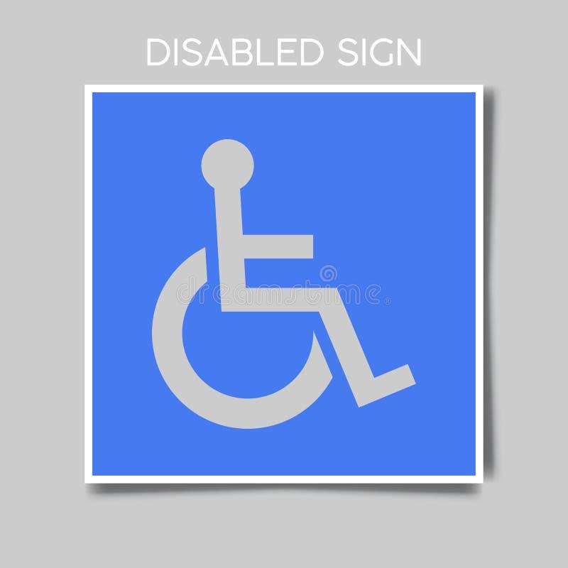 Ícone deficiente no estilo liso na moda isolado no fundo Símbolo deficiente da página do ícone para seu projeto da site ilustração stock
