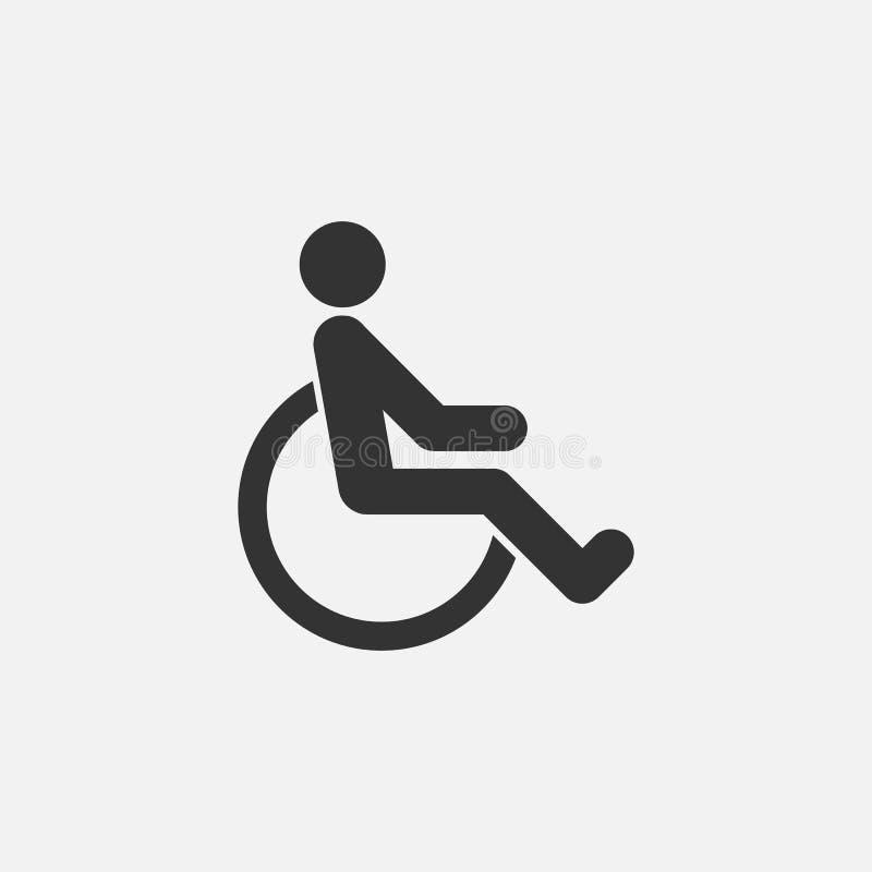 Ícone deficiente, tido desvantagens, deformado, defeituoso ilustração do vetor