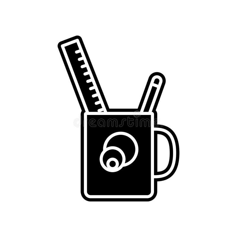 ícone desktop da caixa de lápis Elemento da educação para o conceito e o ícone móveis dos apps da Web Glyph, ícone liso para o pr ilustração stock