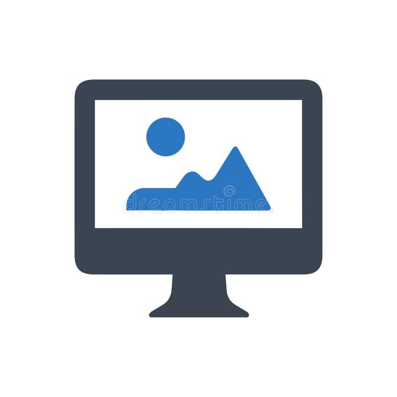 Ícone Desktop da imagem ilustração stock