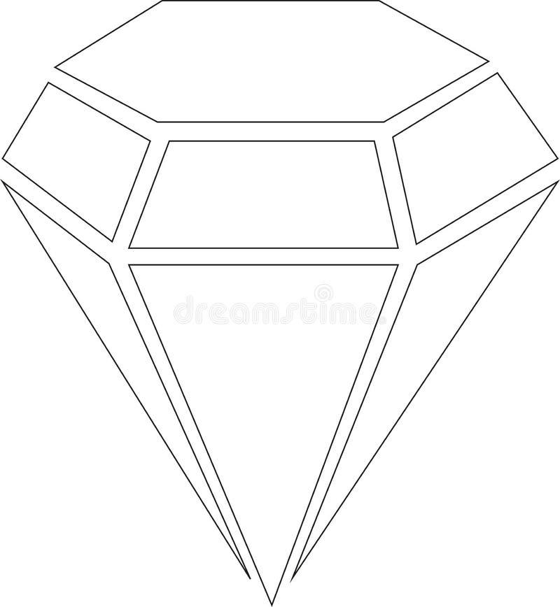 Ícone - diamante - vetor ilustração do vetor