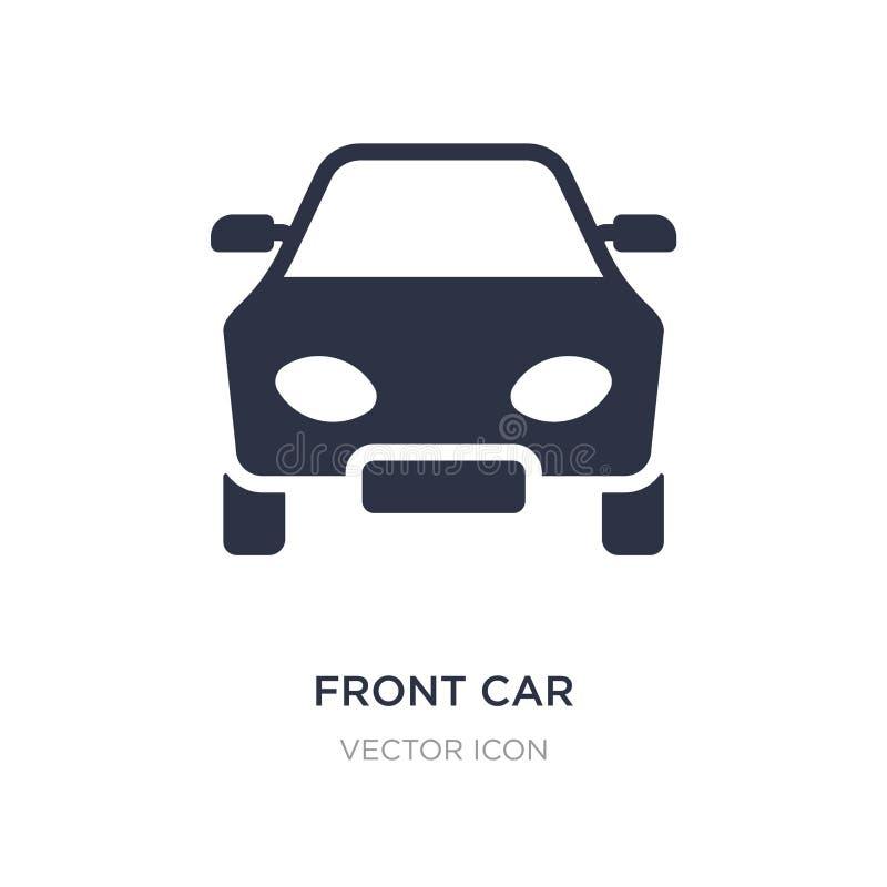 ícone dianteiro do carro no fundo branco Ilustração simples do elemento do conceito do transporte ilustração do vetor