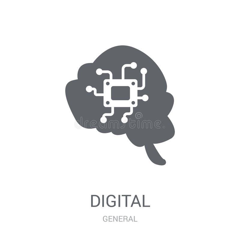 ícone digital da transformação  ilustração do vetor