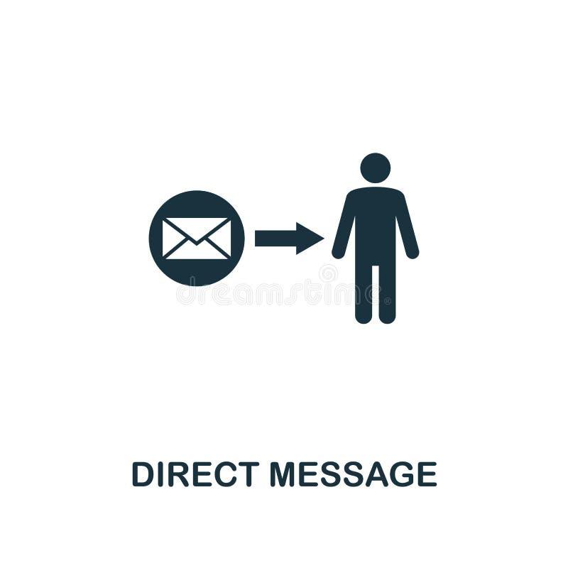 ícone direto da mensagem Projeto superior do estilo de anunciar a coleção do ícone UI e UX Ícone direto perfeito da mensagem do p ilustração royalty free