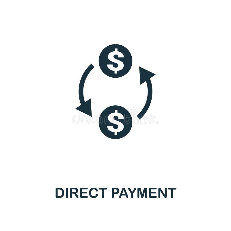 Ícone direto do pagamento Projeto monocromático do estilo da coleção do ícone do fintech UI e UX Ícone direto perfeito do pagamen ilustração do vetor