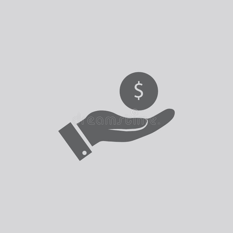 Ícone disponivel da moeda ilustração royalty free
