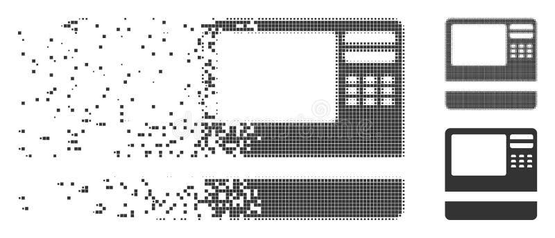 Ícone dissolvido ATM da reticulação do pixel do banco ilustração do vetor