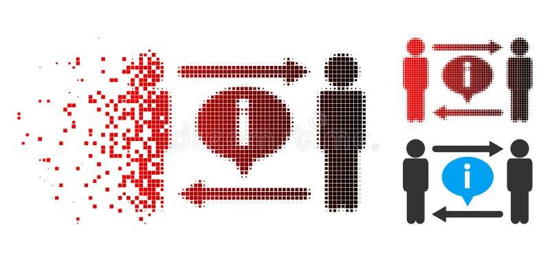 Ícone dissolvido de Dot Halftone Men Information Exchange ilustração stock