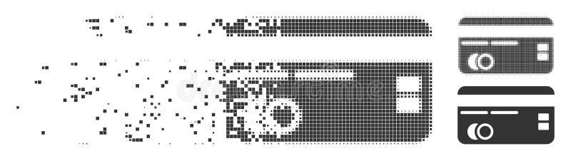 Ícone dissolvido do pixel do cartão de crédito ilustração royalty free