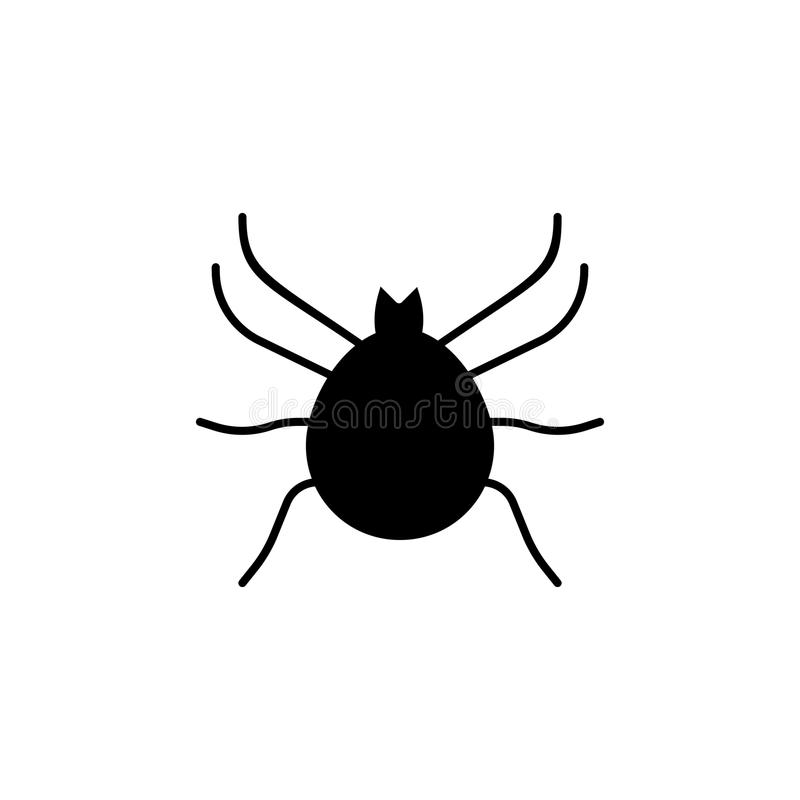 Ícone do ácaro Elementos do ícone do inseto Projeto gráfico da qualidade superior Sinais e ícone para Web site, design web da col ilustração stock