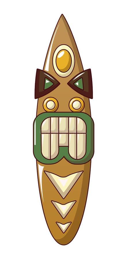 Ícone do ídolo do Maya, estilo dos desenhos animados ilustração stock