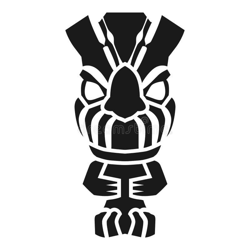 Ícone do ídolo do Maya, estilo simples ilustração royalty free