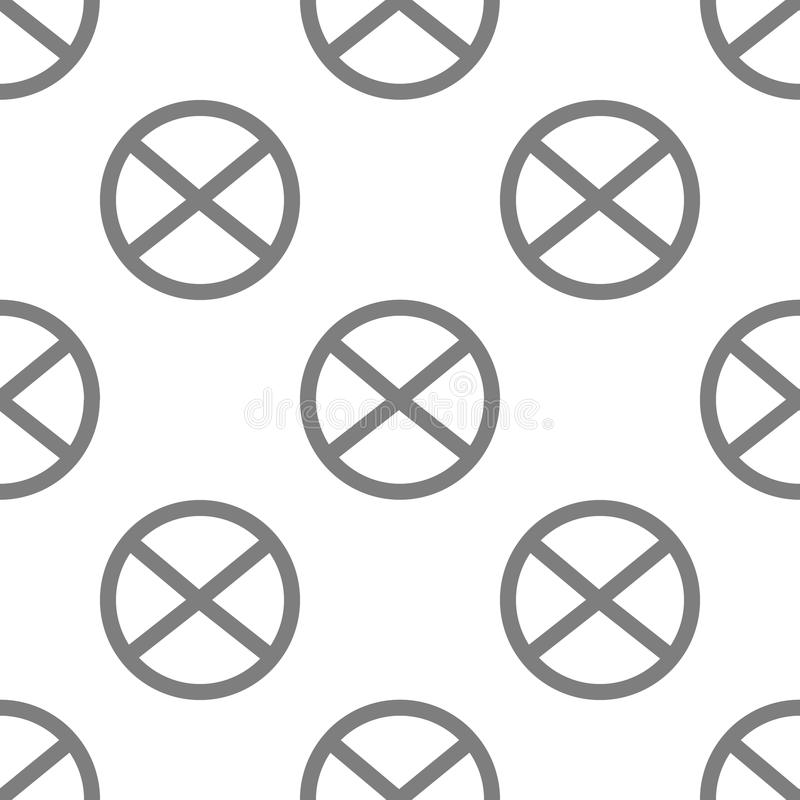 Ícone do ímã Elemento de ícones minimalistic para apps móveis do conceito e da Web O ícone sem emenda do ímã da repetição do test ilustração royalty free
