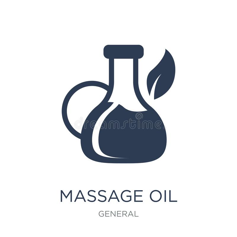 Ícone do óleo da massagem  ilustração royalty free