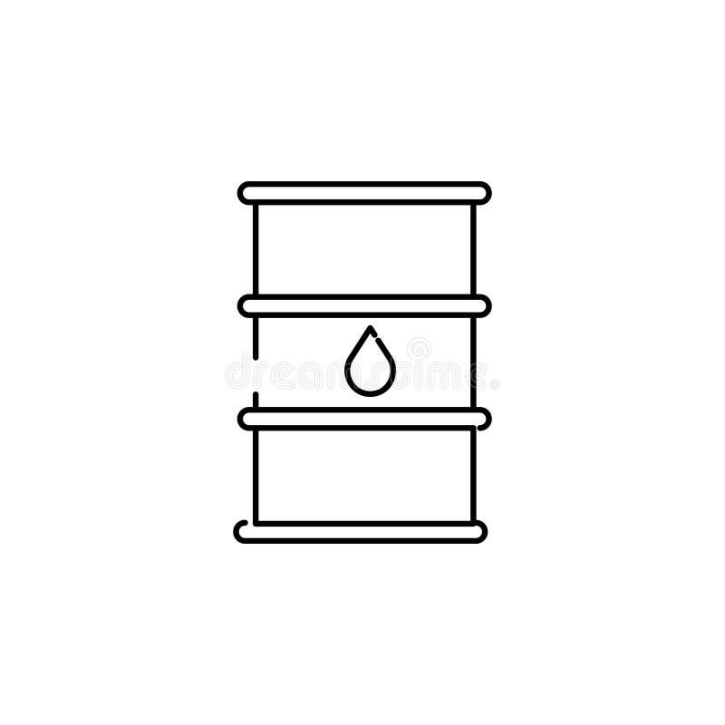 Ícone do óleo do tambor ilustração royalty free