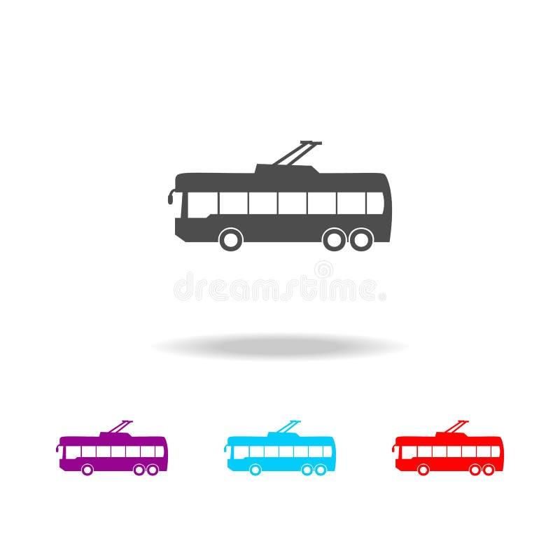 Ícone do ônibus bonde Elementos dos carros em multi ícones coloridos Ícone superior do projeto gráfico da qualidade Ícone simples ilustração royalty free