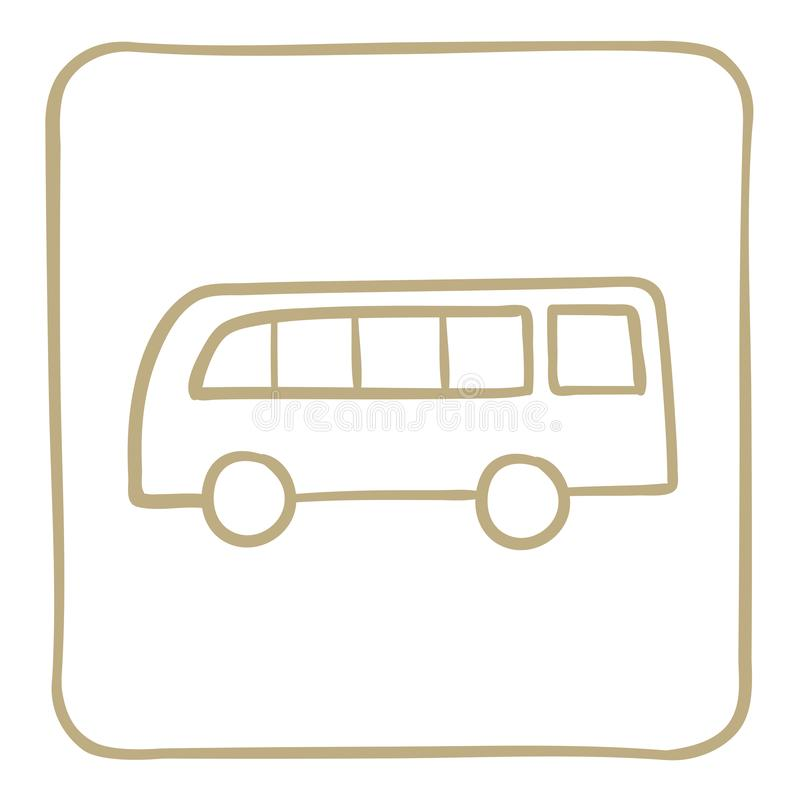 ícone do ônibus do passageiro em claro - quadro marrom Gráficos de vetor ilustração do vetor
