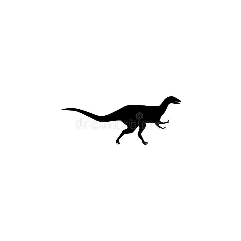 Ícone do Abelisaurus Elementos do ícone do dinossauro Projeto gráfico da qualidade superior Sinais e ícone para Web site, Web de  ilustração stock