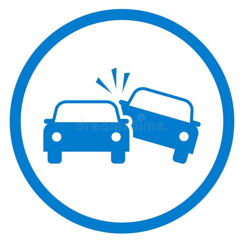 Ícone do acidente de trânsito ilustração stock