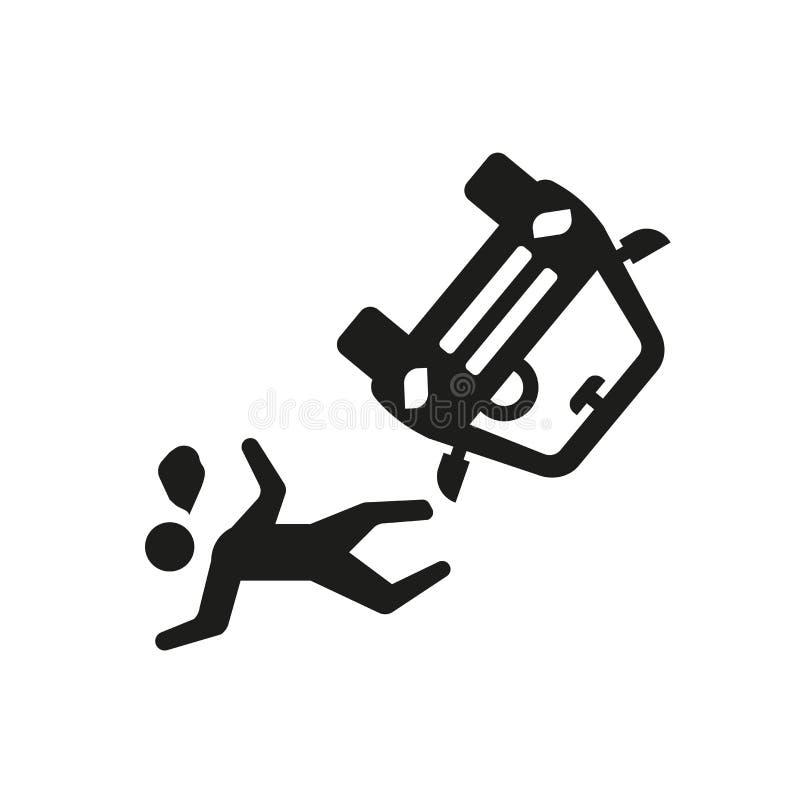ícone do acidente e dos ferimentos Logotipo na moda co do acidente e dos ferimentos ilustração do vetor