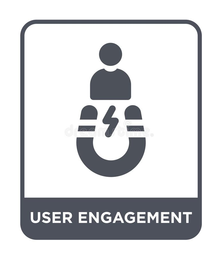 ícone do acoplamento do usuário no estilo na moda do projeto ícone do acoplamento do usuário isolado no fundo branco ícone do vet ilustração stock